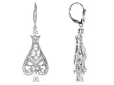 White Cubic Zirconia Platineve Earrings 4.12ctw