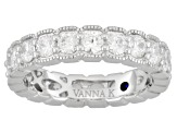 Bella Luce 3.67ctw Round Brilliant Cut Cubic Zirconia Platineve Eternity Band