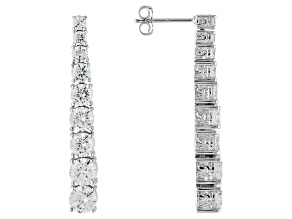 White Cubic Zirconia Platineve Earrings 7.37ctw.