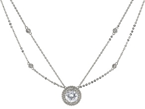 White Cubic Zirconia Platineve Necklace 4.36ctw