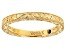 18K Yellow Gold Over Sterling Silver Band Ring