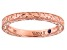 18K Rose Gold Over Sterling Silver Band Ring