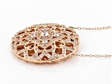 White Cubic Zirconia 18K Rose Gold Over Sterling Silver Necklace 1.68CTW