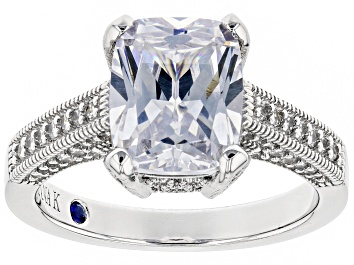 Picture of White Cubic Zirconia Platineve ™ Over Sterling Silver Ring 5.77CTW