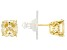 Canary Cubic Ziconia 18K Yellow Gold Over Sterling Silver Stud Earrings 5.04ctw