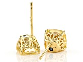 Canary Cubic Zirconia 18K Yellow Gold Over Sterling Silver Stud Earrings 5.04ctw