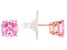 Pink Cubic Ziconia 18K Rose Gold Over Sterling Silver Stud Earrings 5.04ctw