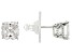 White Cubic Zirconia Platineve Stud Earrings 5.16ctw