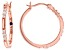White Cubic Zirconia 18K Rose Gold Over Sterling Silver Hoop Earrings 1.05ctw