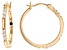 White Cubic Zirconia 18K Yellow Gold Over Sterling Silver Hoop Earrings 1.05ctw