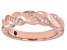 White Cubic Zirconia 18k Rose Gold Over Sterling Silver Ring 0.28ctw