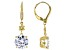White Cubic Zirconia 18k Yellow Gold Over Sterling Silver Earrings 8.50ctw