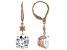 White Cubiz Zirconia 18k Rose Gold Over Sterling Silver Earrings 8.50ctw