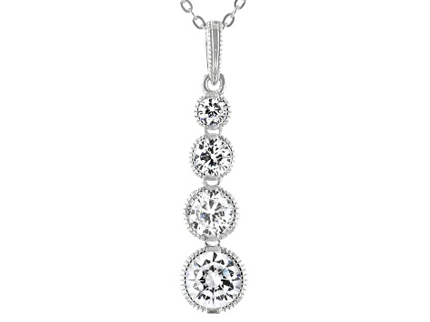 White Cubic Zirconia Platineve ® Pendant With Chain 2.74ctw