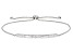 White Cubic Zirconia Platineve Adjustable Bracelet 0.97ctw