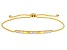 White Cubic Zirconia 18k Yellow Gold Over Sterling Silver Adjustable Bracelet 0.97ctw