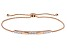 White Cubic Zirconia 18k Rose Gold Over Sterling Silver Adjustable Bracelet 0.97ctw