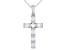 White Cubic Zirconia Platineve ® Cross Pendant With Chain 1.22ctw
