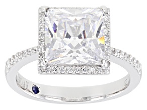 White Cubic Zirconia Platineve ® Ring 6.13ctw