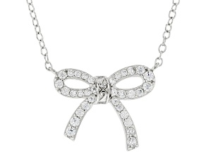 White Cubic Zirconia Platineve Necklace 0.47ctw