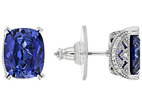 Lab Created Sapphire And White Cubic Zirconia Platineve®  Earrings 5.75ctw
