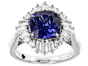 Blue and White Cubic Zirconia Platineve(R) Ring