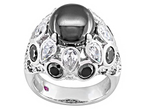 Black And White Cubic Zirconia Platineve Ring 14.25ctw