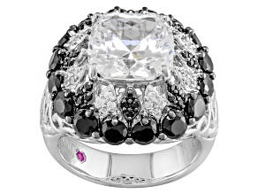 Black And White Cubic Zirconia Platineve Ring 11.89ctw
