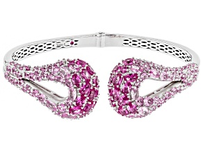 Pink Cubic Zirconia Platineve Bracelet 17.10ctw
