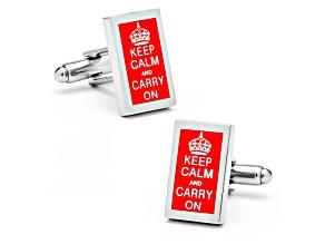 Keep Calm And Carry On Cufflinks
