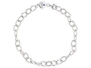 Platineve Over Sterling Silver Charm Bracelet