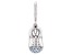 Lab Created Blue Spinel Platineve Over Sterling Silver Baby Boy Boot Charm 0.16ctw