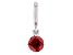 Red Cubic Zirconia Platineve Over Sterling Silver January Birthstone Charm 0.90ctw