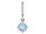 Lab Created Blue Spinel Platineve Over Sterling Silver March Birthstone Charm 0.88ctw