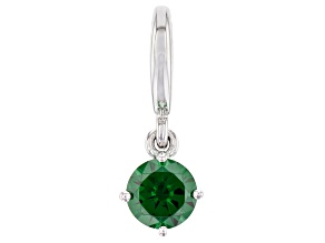 Green Cubic Zirconia Platineve Over Sterling Silver May Birthstone Charm 0.90ctw