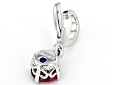 Lab Created Ruby Platineve Over Sterling Silver July Birthstone Charm 0.90ctw
