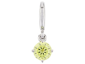Green Cubic Zirconia Platineve Over Sterling Silver August Birthstone Charm 0.90ctw
