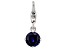 Lab Created Blue Sapphire Platineve Over Sterling Silver September Birthstone Charm 0.86ctw