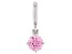 Pink Cubic Zirconia Platineve Over Sterling Silver October Birthstone Charm 0.90ctw