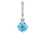 Swiss Blue Topaz Platineve Over Sterling Silver December Birthstone Charm 0.78ctw