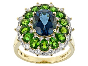 London Blue Topaz 10k Yellow Gold Ring 5.94ctw