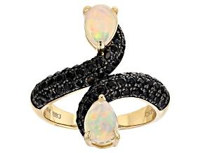 Ethiopian Opal 10k Yellow Gold Ring 1.65ctw