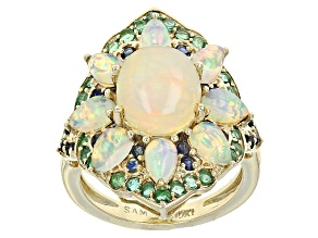 Ethiopian Opal 10k Yellow Gold Ring 3.73ctw