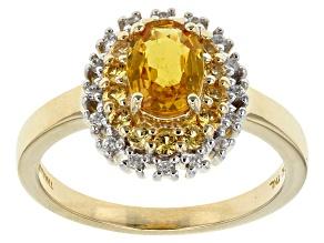 Yellow Sapphire 10k Yellow Gold Ring 1.09ctw