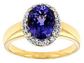 Blue Tanzanite 18k Yellow Gold Ring 2.20ctw