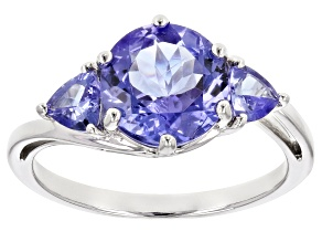 Blue Tanzanite Rhodium Over 10k White Gold Ring 2.60ctw