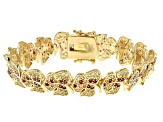 Multi color 18k yellow gold over sterling silver bracelet 5.16ctw