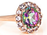 Green Mystic Fire(R) topaz 18k rose gold over silver ring 2.83ctw