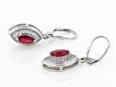 Red Mahaleo(R) ruby rhodium over silver earrings 1.73ctw