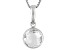 Womens 1.85ctw 8mm Round Crystal Quartz Sterling Silver Solitaire Pendant